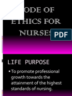 nursing ode of ethics