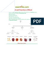 Blood and Functions of Blood