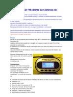 Ipod transmisor FM estéreo