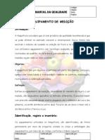 Manual Da Qualidade - Equipamentos