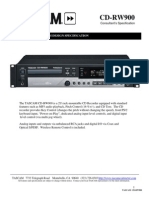 Tascam CD-RW900 design specification
