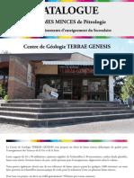 Catalogue Des Lames Minces de Petrologie