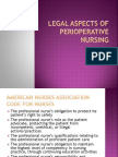 Legal Aspects of Perioperative Nursing