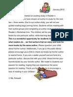 Parent Letter Author Study