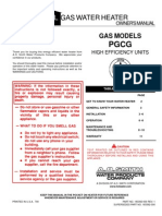 Gas PGCG Owners Manual
