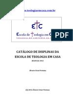 Catalogo Geral Disciplinas ETC 2012