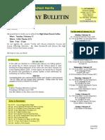 HS Friday Bulletin 02.13.09