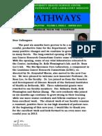 Pathways Newsletter, Winter 2013