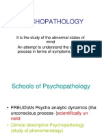 schools of psychopathology