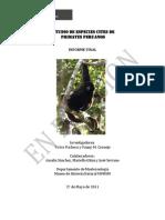 Estudio de Especies Cites de Primates Peruanos