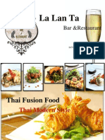 Section1 seat 6 LALANTA  Bar and restaurant