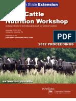 2012 Penstate Nutrition Workshop Proceedings