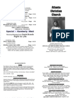 January 20, 2013 Church Bulletin