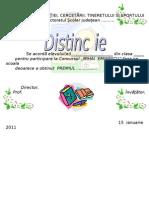 Diploma Concurs Mihai Eminescu