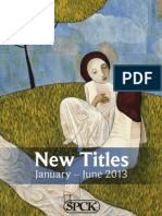 SPCK New Titles January-June 2013