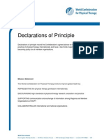 WCPT (World Confederation for Physical Therapy) Declarations of Principle
