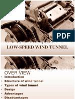 low speed wind tunnel