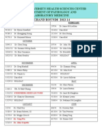 Grand Rounds Schedule 2013-14