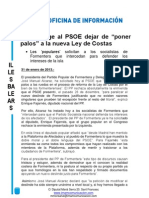 Np Ley de Costas - Psoe Nacional