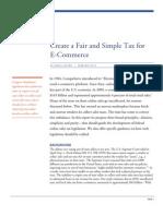 Create a Fair and Simple Tax for E-Commerce
