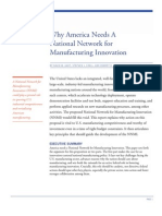 Why America Needs a National Network for Manufacturing Innovation
