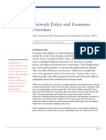 Network Policy and Economic Doctrines