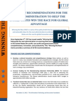 TOP POLICY RECOMMENDATIONS FOR THE OBAMA ADMINISTRATION TO HELP THE UNITED STATES WIN THE RACE FOR GLOBAL ADVANTAGE