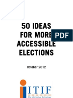 50 Ideas for More Accessible Elections