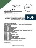 CONPES Plan Naciona 3726