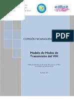 Modelo de Modos de Transmision Del VIH Nicaragua 2012