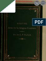 ARTE DE LA LENGUA GUARANI - POR EL DR. CHRISTIANI FREDERICI SEYBOLD - PARAGUAY - PORTALGUARANI