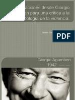 Un acercamiento a Giorgio Agamben