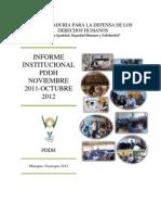 Informe Anual Pddh 2012