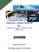 Kurzweil Sp2x Piano Eléctrico