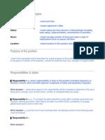 Detailed Job Description Template