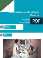 Marco Normativo de La Salud Materna