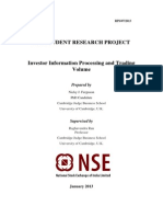 NSE STUDENT RESEARCH PROJECT Investor Information Processing and Trading Volume