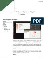 Instalar Ubuntu en Un Mac | Victorsnk