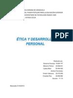 Informe de Ética y desarrollo personal