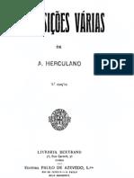 Composições várias, de Alexandre Herculano