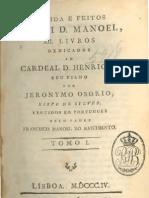 Da vida e feitos d'elrei d. Manoel, por Jerónimo Osório, vol. 1