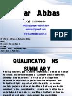 Resume - Azhar Abbas