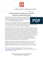 """Church of Scientology Response to Lawrence Wright's book, """"Going Clear"""""""