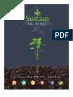Louisville Draft Sustainability Report
