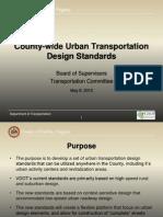 Fairfax County Urban Transportation Design Standards
