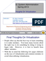 Final Thoughts on Virtualization