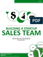 Building a Startup Sales Team