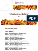 Thanksgiving Litany 2012
