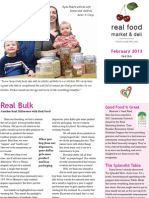 Real Food Feb 2013 Newsletter