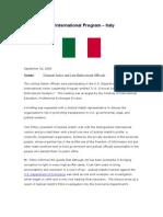 10 September 20, 2006 ITALY Meeting Summary